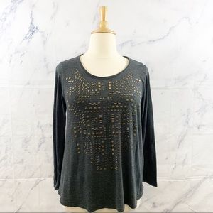 Lucky Brand Gold Studded Soft Top 1X